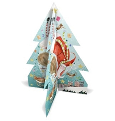 Flying Santa 3D Tree - Advent Calendar Christmas