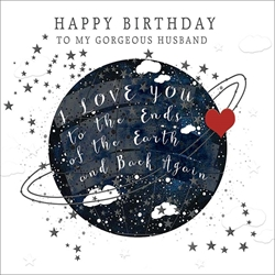 Husband Ends of the Earth - Birthday Card