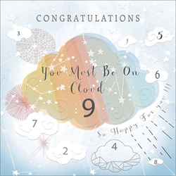 Cloud 9 - Congratulations Card