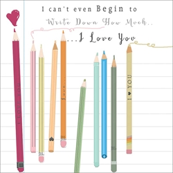 Pencils - Love Card
