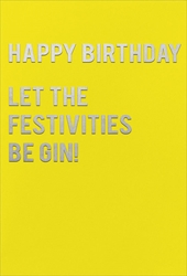 Be Gin! - Birthday Card Birthday