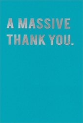 Massive - Thank You Card
