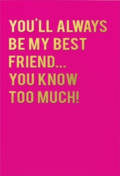 Best Friend - Friendship Card Friendship