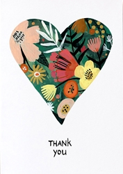 Floral Heart - Thank You Card