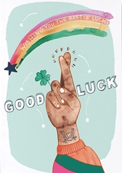 Fingers Crossed - Good Luck Card