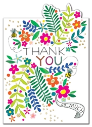 Flowers - Thank You Card Thank You