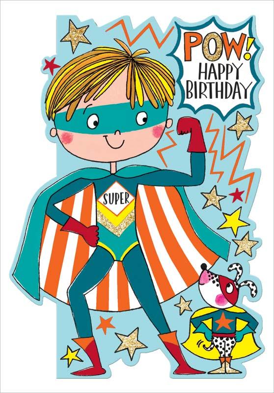 Awe Inspiring Rachel Ellen Designs Superhero Birthday Card Dar012 Funny Birthday Cards Online Drosicarndamsfinfo