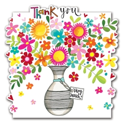 Vase / Flowers - Thank You Card