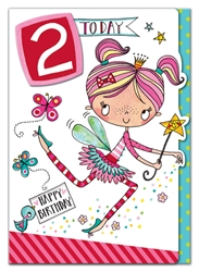 Second Birthday Fairy - Birthday Card