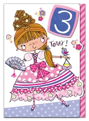 Third Birthday Princess - Birthday Card