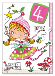 Fourth Birthday Fairy - Birthday Card
