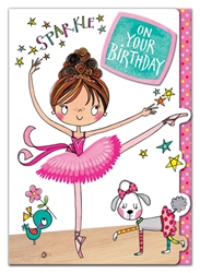 Ballerina - Birthday Card