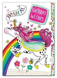 Unicorn - Birthday Card