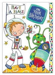 Space Blast - Birthday Card