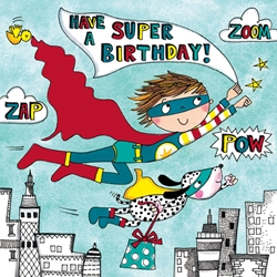 Superhero Jigsaw Puzzle - Birthday Card