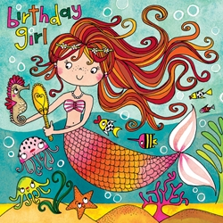Mermaid Jigsaw Puzzle - Birthday Card