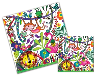 Jungle Jigsaw Puzzle - Blank Card
