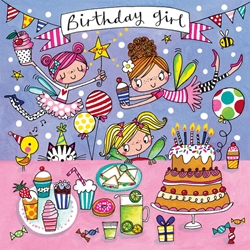 Fairies Birthday Girl Jigsaw Puzzle - Birthday Cards