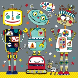 Robots Jigsaw Puzzle - Birthday Cards