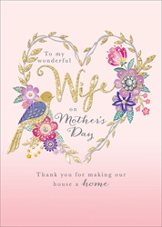 Wife - Mothers Day Card
