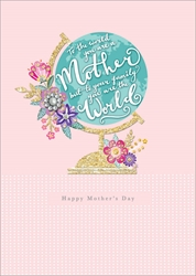 Globe - Mothers Day Card