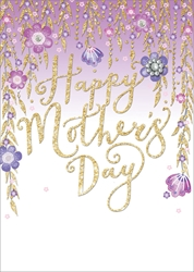 Hanging Flowers - Mothers Day Card
