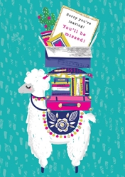 Llama Sorry Youre Leaving - Friendship Card Friendship