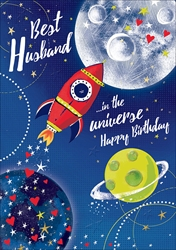 Husband Space - Birthday Card