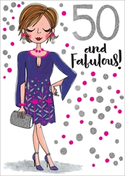 Jennifer 50 - Birthday Card