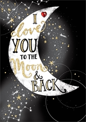 Moon & Back - Love Card