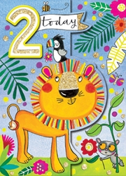 Second Birthday Lion - Birthday Cards