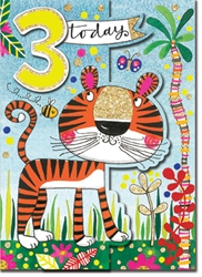 Third Birthday Tiger - Birthday Cards