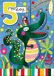 Fifth Birthday Alligator - Birthday Cards