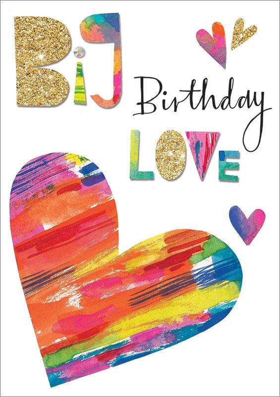 Rachel Ellen Designs Big Love Birthday Card Zest06