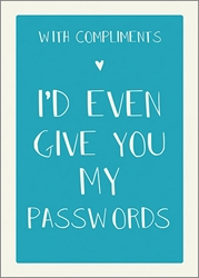 Passwords - Friendship Card Friendship