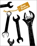 Wrenches - Birthday Card Birthday