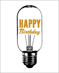 Light Bulb - Birthday Card Birthday