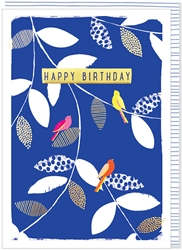 Birds and Vines - Birthday Card