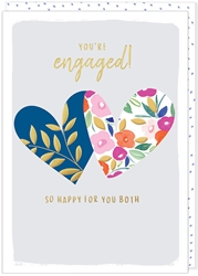 Two Hearts - Engagement Card