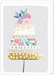Cake with Flowers - Wedding Card