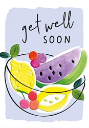 Bowl of Fruit - Get Well Card