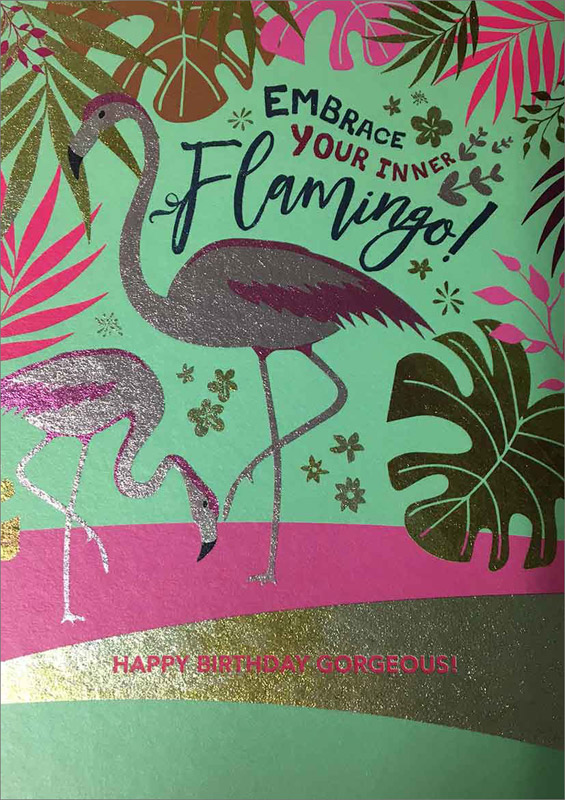 Inner Flamingo - Birthday Cards