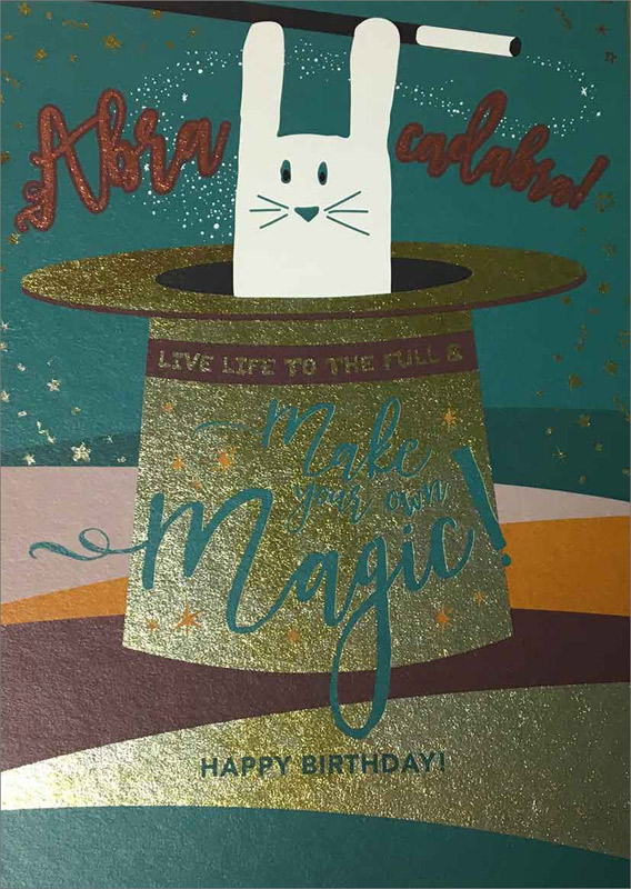 Cat / Hat Magic - Birthday Cards