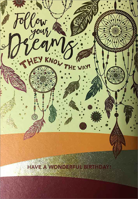 Follow Dreams - Birthday Cards