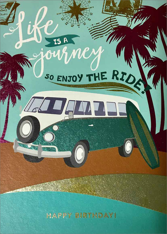 VW Bus Ride - Birthday Cards