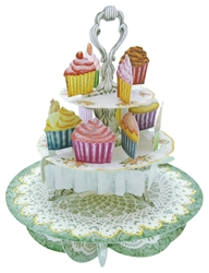 Cupcake Tea Time - Blank Card Blank
