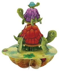 Balancing Tortoises - Display Card Blank