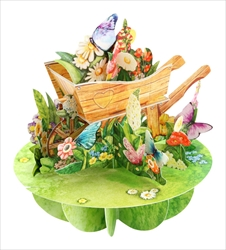 Wheelbarrow of Flowers - Blank Card