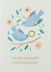 Birds and Ring - Engagement Card
