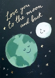 Moon and Back - Love Card